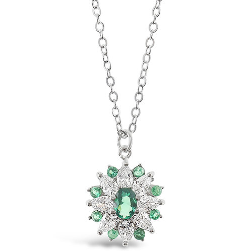 Sterling Silver Cubic Zirconia Necklace 141587
