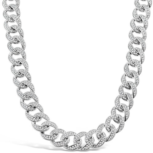 Costume Pave Crystal Link Necklace