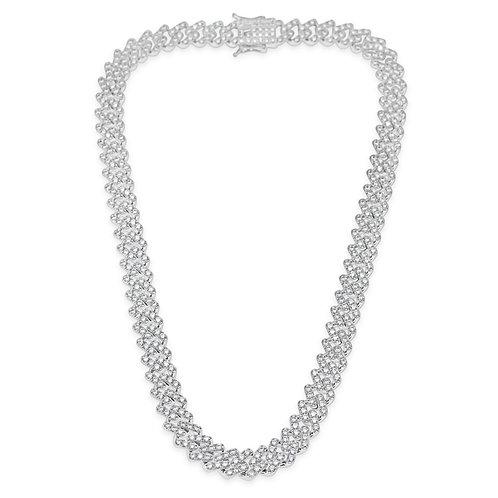 Fashion Cubic Zirconia Miami Cuban Link Necklace 142285