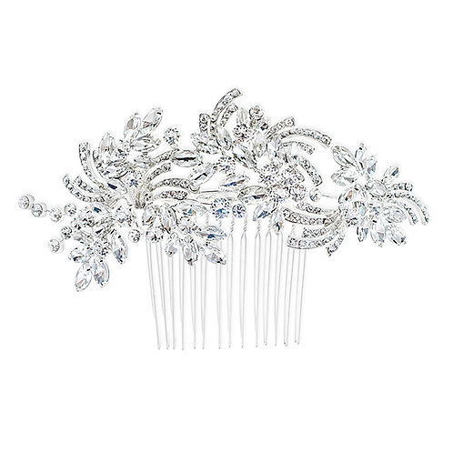 Bridal Silver Hair Comb 120651