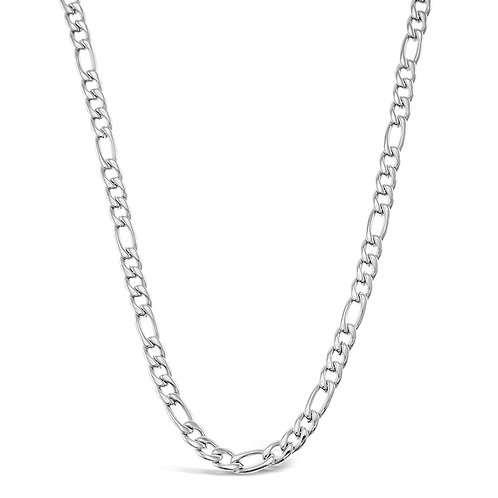 Bitter Sweet Jewellery Stainless Steel Figaro Silver Necklace 142329