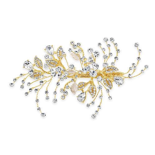 Bridal Gold leaf Hair Clip 142033