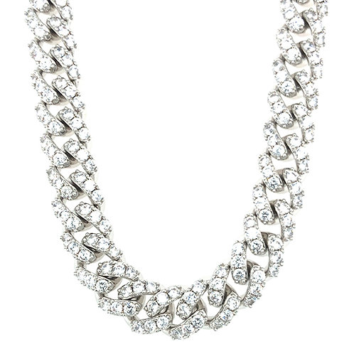 """Bitter Sweet Cubic Zirconia Cuban Link 16"""" Inches Necklace 142862"""