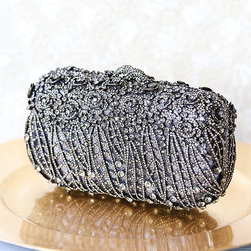 Black Rose Crystal Clutch 141024