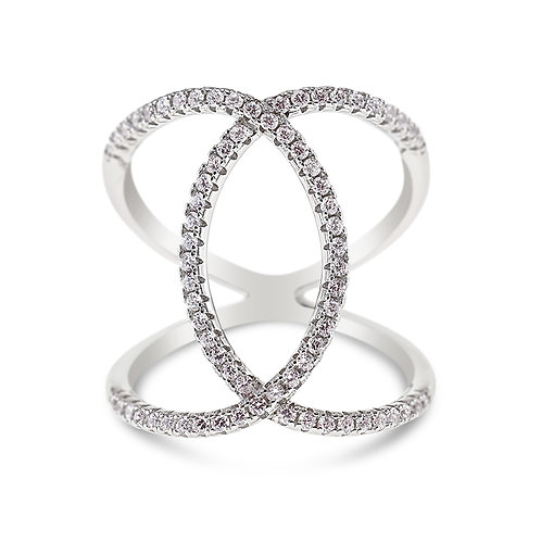 Sterling Silver Cubic Zirconia Ring 132705