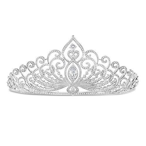 Bridal Silver Cubic Zirconia Tiara 132108-10125248