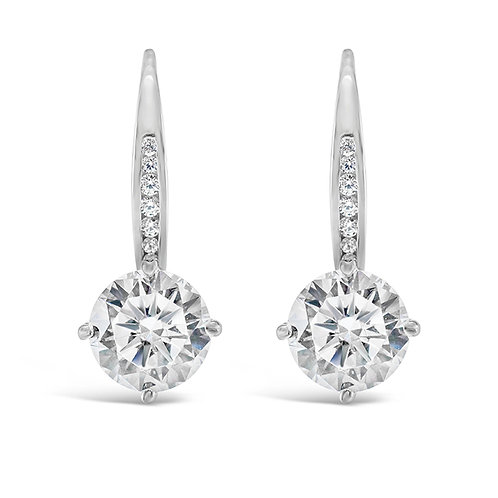 Sterling Silver Cubic Zirconia Round Earrings 141450