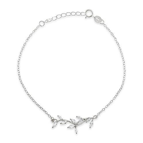 Bitter Sweet Sterling Silver Cubic Zirconia Bracelet 141808