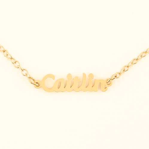 Name Plate Necklace C