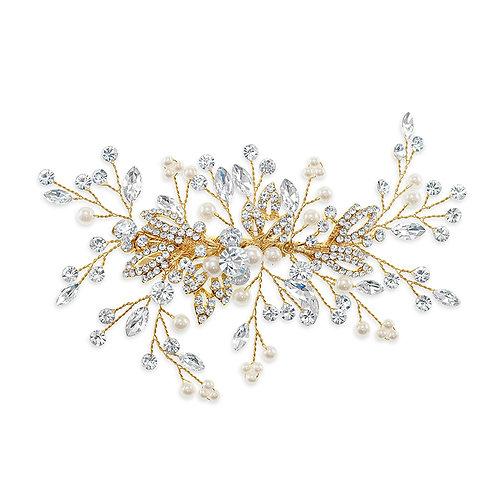 Bridal Gold Pearl Hair Clip 142036