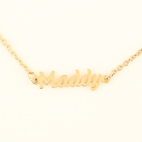Name Plate Necklace M