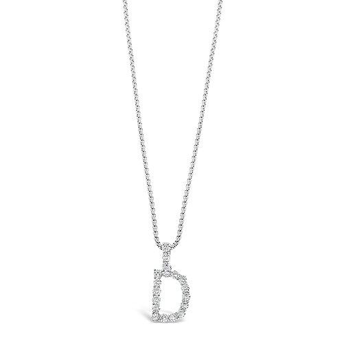 Bitter Sweet Jewelery Stainless Steel Cubic Zirconia Initial D Necklace 142312