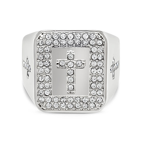 Bitter Sweet Men's Stainless Steel Cubic Zirconia Ring 141216