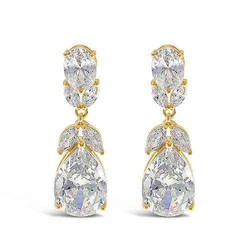 Bitter Sweet Gold Cubic Zirconia Drop Earrings 143272