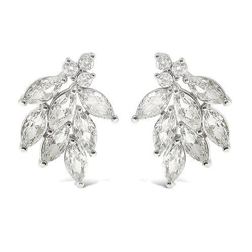 Bitter Sweet Silver Cubic Zirconia Stud Earrings 142875