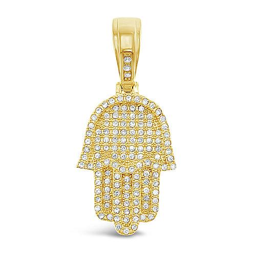 Bitter Sweet Jewellery Stainless Steel Gold Crystal Hamsa Pendant 142527