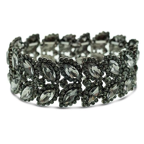 Fashion Anita Crystal Elastic Leaf Bracelet 140972