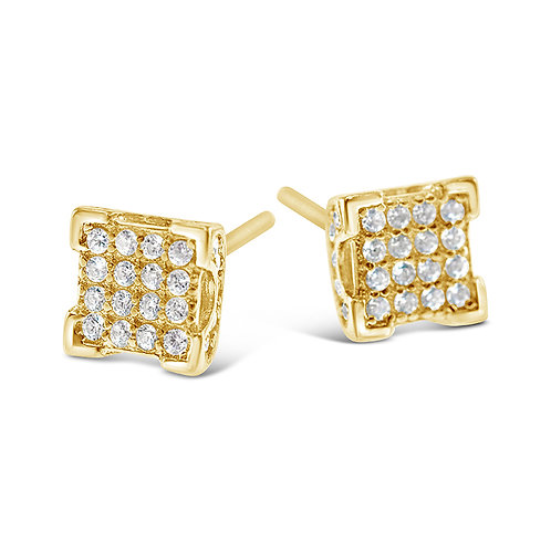 Bitter Sweet Gold Plated Sterling Silver Cubic Zirconia Earrings 142511