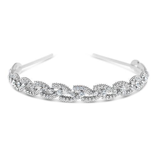 Bridal Silver Crystal  Headband 142201