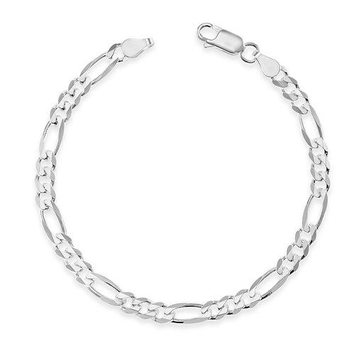 Bitter Sweet Sterling Silver Figaro Bracelet 142098