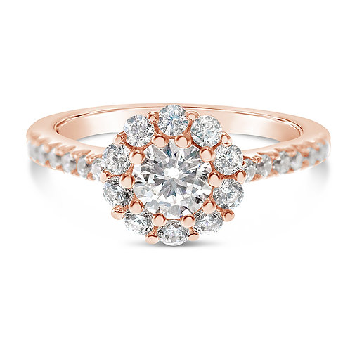 Bitter Sweet Rose Gold Plated Sterling Silver Cubic Zirconia Ring 141330
