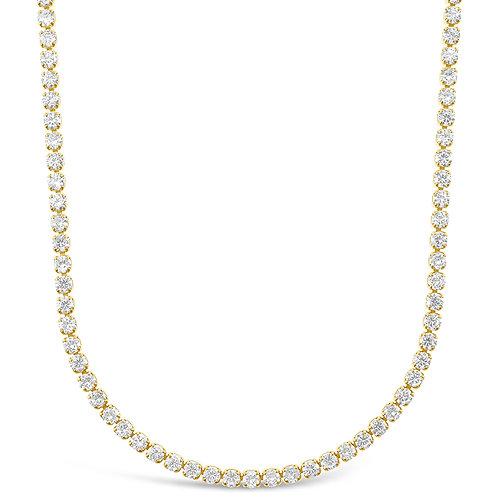 """Fashion Cubic Zirconia Gold Tennis 12"""" Choker 143265"""