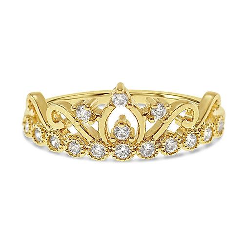 Bitter Sweet Fashion Gold Cubic Zirconia Ring 141942