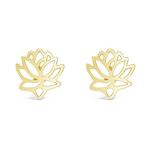 Bitter Sweet Gold Plated Sterling Silver Lotus Earrings 143308