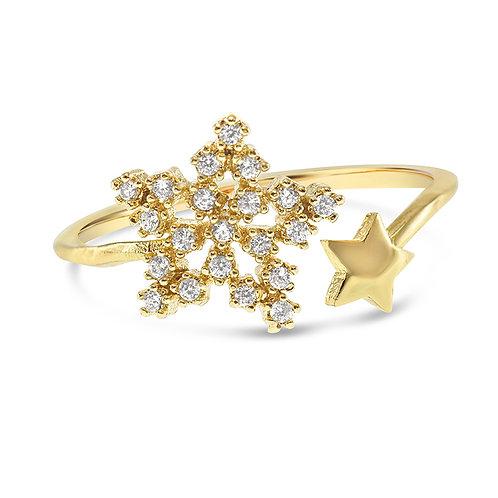 Bitter Sweet Fashion Gold Cubic Zirconia Ring 141916