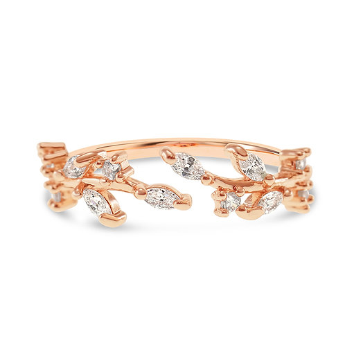Bitter Sweet Fashion Rosegold Cubic Zirconia Ring 141955