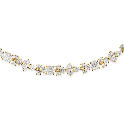 Bitter Sweet Bridal Gold Cubic Zirconia Bracelet 142893