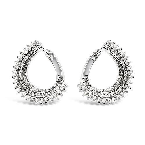 Bitter Sweet Sterling Silver Cubic Zirconia Earrings 141796