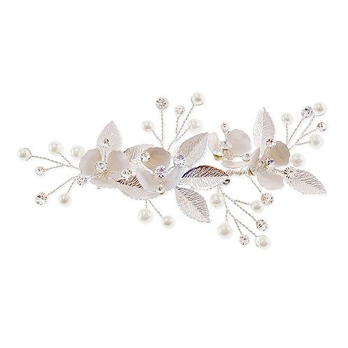 Silver Flower Hair Clip 137585