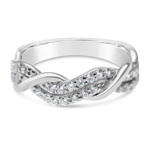 Bitter Sweet Sterling Silver Cubic Zirconia Ring 141336