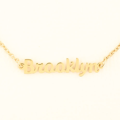 Name Plate Necklace B