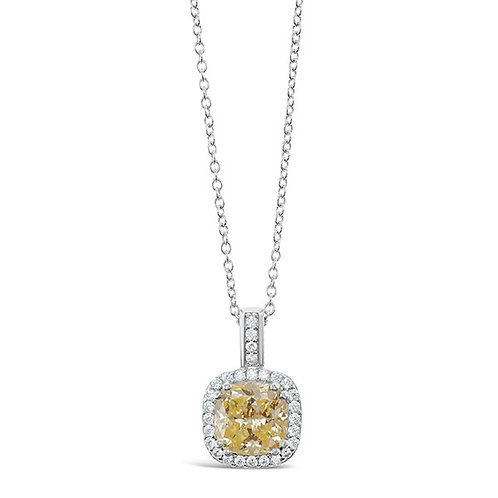 Sterling Silver Cubic Zirconia Necklace 132087-10125192