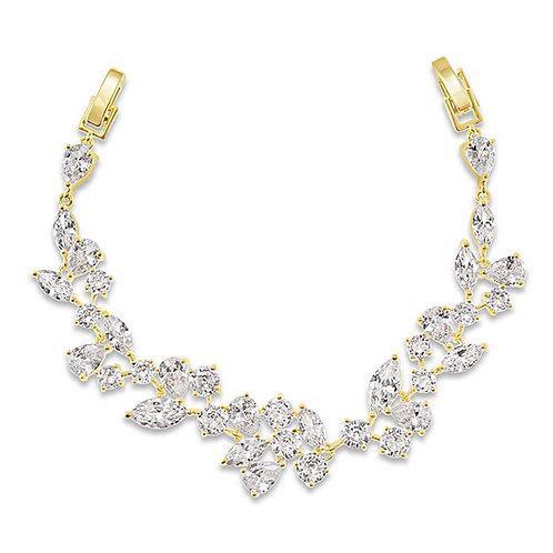 Bitter Sweet Bridal Gold Cubic Zirconia Bracelet 143590