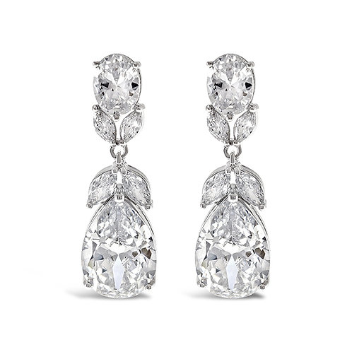 Bitter Sweet Silver Cubic Zirconia Drop Earrings 131625