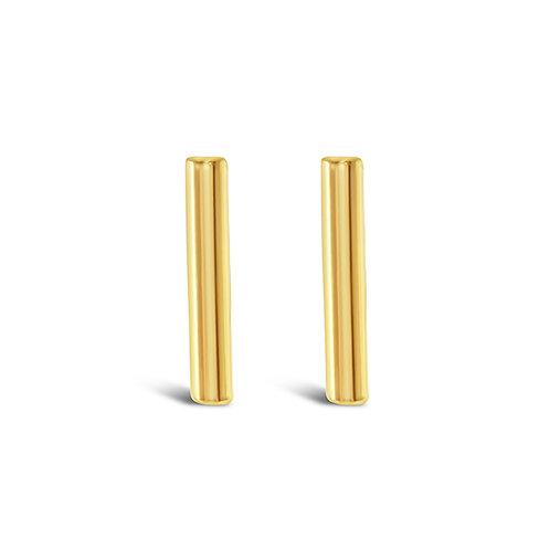 Bitter Sweet Gold Plated Sterling Silver Bar Earrings 143302
