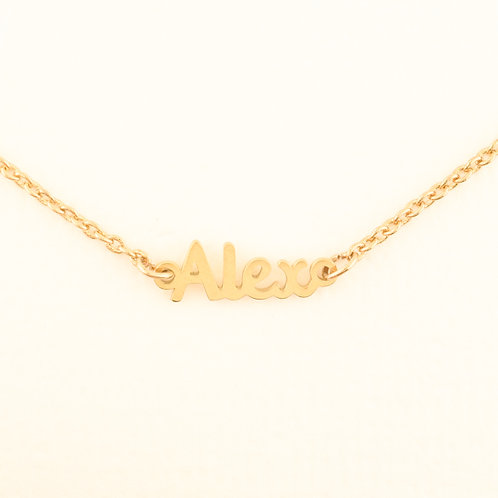 Name Plate Necklace A