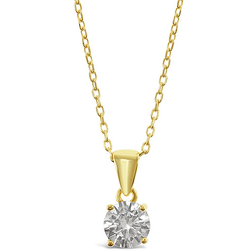 Bitter Sweet Gold Plated Sterling Silver Cubic Zirconia Necklace 143397