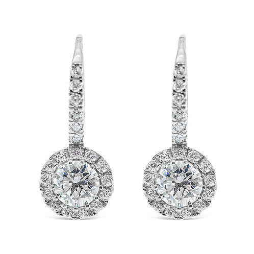Sterling Silver Cubic Zirconia Round Earrings 128735