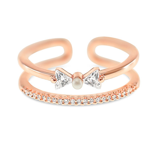 Bitter Sweet Fashion Rosegold Cubic Zirconia Ring 141929