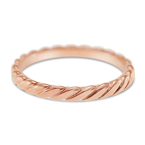 Rose Gold Plated Sterling Silver Ring 132081