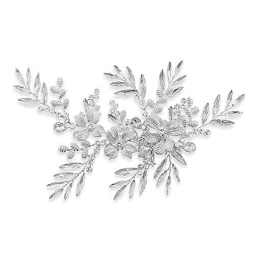 Bridal Silver Hair Clip 137631