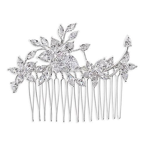 Bridal Silver Cubic Zirconia Hair Comb 143601