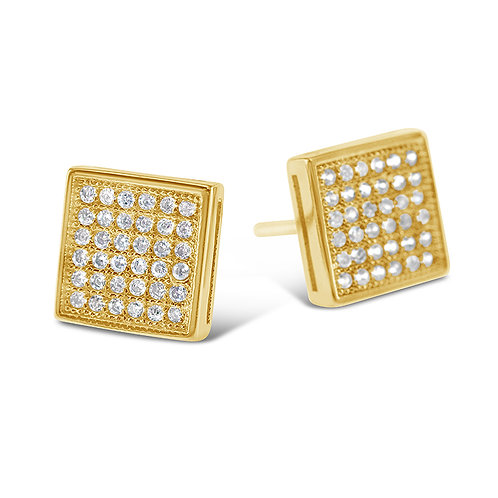 Bitter Sweet Gold Plated Sterling Silver Cubic Zirconia Earrings 142506