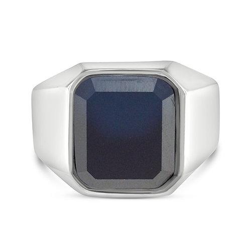 Bitter Sweet Men's Stainless Steel Cubic Zirconia Ring 143063