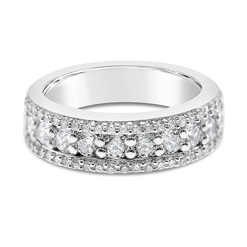 Bitter Sweet Sterling Silver Cubic Zirconia Ring 122819