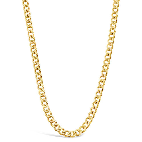 Bitter Sweet Jewellery Stainless Steel Curb Gold Necklace 142334